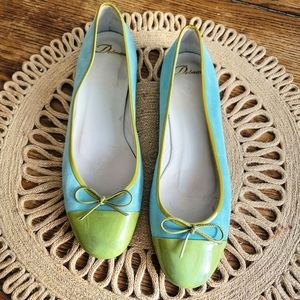 DELMAN Suded Patent Tip Ballet Flats Size 8.5